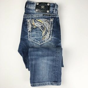 Miss Me Women's Cuffed Capri Blue Jeans Size 26
